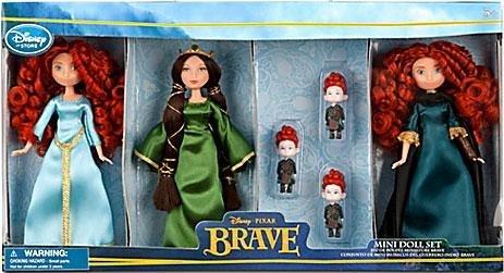 メリダとおそろしの森 メリダ ブレイブ ディズニープリンセス [Disney] Disney / Pixar BRAVE Movie Exclusive 6 Piece Mini Doll Set 2x Merida Queen Elinor Triplet Brothers 6070040900145P [parallel iメリダとおそろしの森 メリダ ブレイブ ディズニープリンセス