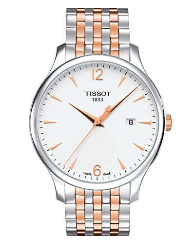 ティソ 腕時計 メンズ Tissot T063.610.22.037.01 Men's Watch Tradition Silver/Rose Gold 42mm Stainless Steelティソ 腕時計 メンズ