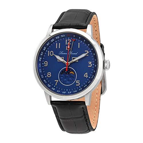ルシアンピカール 腕時計 メンズ 【送料無料】Lucien Piccard Blue Dial Men's Leather Watch 40016-03ルシアンピカール 腕時計 メンズ