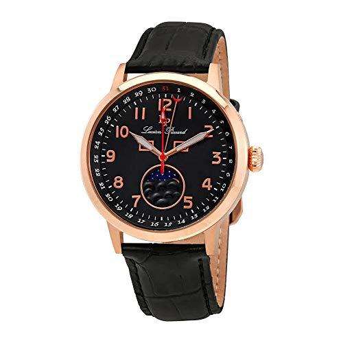 ルシアンピカール 腕時計 メンズ 【送料無料】Lucien Piccard Complete Calendar Black Dial Men's Watch 40016-RG-01ルシアンピカール 腕時計 メンズ