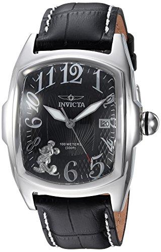 インヴィクタ インビクタ 腕時計 メンズ ディズニー 25022 Invicta Men's 'Disney Limited Edition' Quartz Stainless Steel and Leather Casual Watch, Color:Black (Model: 25022)インヴィクタ インビクタ 腕時計 メンズ ディズニー 25022