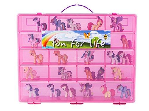 マイリトルポニー ハズブロ hasbro、おしゃれなポニー かわいいポニー ゆめかわいい Fun for Life Storage Organizer for Little Pony Figures Fits Approx. 80 pieces - Strawberry/Pマイリトルポニー ハズブロ hasbro、おしゃれなポニー かわいいポニー ゆめかわいい