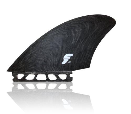 サーフィン フィン マリンスポーツ Future Fins K2 Twin Fin Surfboard Keel Set Black Fiberglassサーフィン フィン マリンスポーツ