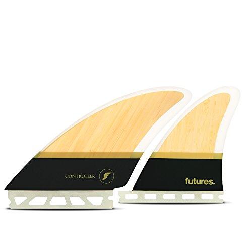 サーフィン フィン マリンスポーツ Futures Fins - Controller HC Quad - Bamboo/Brownサーフィン フィン マリンスポーツ