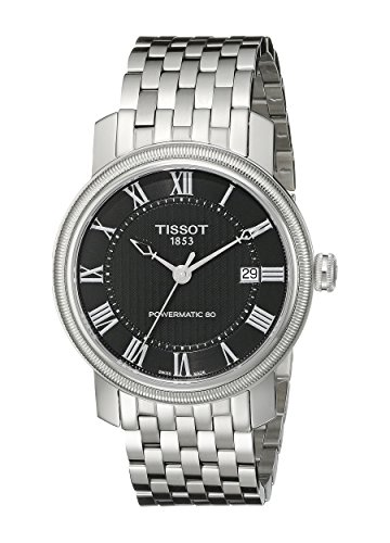 腕時計 ティソ メンズ T0974071105300 【送料無料】Tissot Men's T0974071105300 Bridgeport Analog Display Swiss Automatic Silver Watch腕時計 ティソ メンズ T0974071105300
