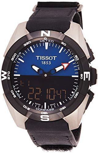 ティソ 腕時計 メンズ T0914204604100 【送料無料】Tissot Men's Swiss Quartz Titanium and Black Leather Casual Watch (Model: T0914204604100)ティソ 腕時計 メンズ T0914204604100