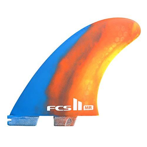 サーフィン フィン マリンスポーツ FCS Surf ll MR PC Tri Retail Fin Set, Multi Xlargeサーフィン フィン マリンスポーツ