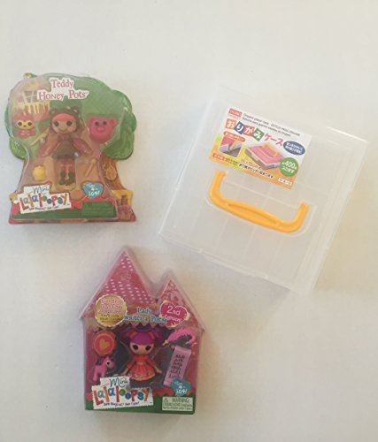 ララループシー 人形 ドール Lalaloopsy Mini Teddy Honey Pots Doll, Lady Writes A Poem & Carrying Case Box. Perfect For Valentines or Easter Gift (3 Items)ララループシー 人形 ドール