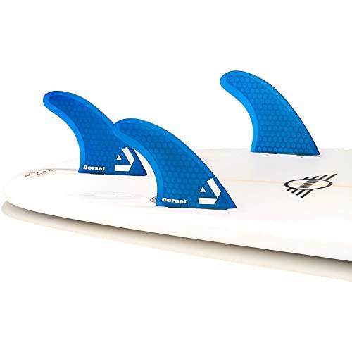 サーフィン フィン マリンスポーツ VENTRAL-HS5-FC3-Blue 【送料無料】DORSAL Surfboard Fins Hexcore Thruster Set (3) Honeycomb FCS Base Blueサーフィン フィン マリンスポーツ VENTRAL-HS5-FC3-Blue