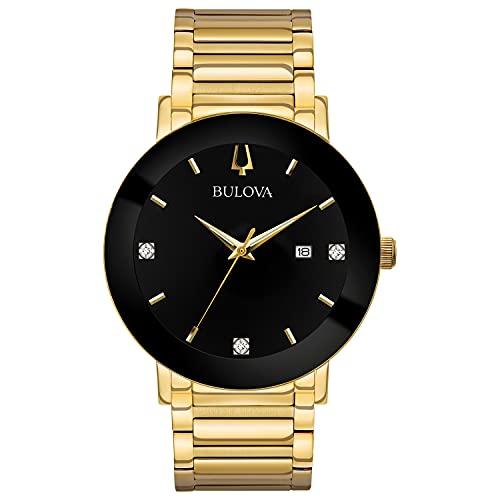 ブローバ 腕時計 メンズ Bulova Men's 42mm Modern Black IP and Goldtone Stainless Steel Bracelet Watchブローバ 腕時計 メンズ