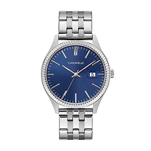 ブローバ 腕時計 メンズ 43B151 Caravelle Men's Quartz Watch with Stainless-Steel Strap, Silver, 20 (Model: 43B151)ブローバ 腕時計 メンズ 43B151