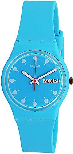 スウォッチ 腕時計 メンズ 夏の腕時計特集 GL700 【送料無料】Swatch Unisex Venice Beach 34mm Blue Silicone Band Plastic Case Swiss Quartz Analog Watch GL700スウォッチ 腕時計 メンズ 夏の腕時計特集 GL700