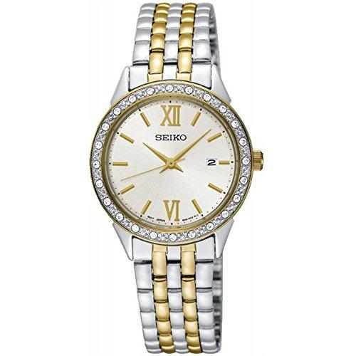 セイコー 腕時計 レディース SUR690 Seiko Women's 28mm Two Tone Steel Bracelet Steel Case Hardlex Crystal Quartz White Dial Watch SUR690セイコー 腕時計 レディース SUR690