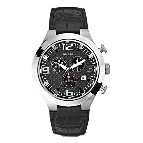 ゲス GUESS 腕時計 メンズ W15034G1 【送料無料】Guess Chronograph Date Leather Band Mens Watch - W15034G1ゲス GUESS 腕時計 メンズ W15034G1