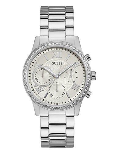 ゲス GUESS 腕時計 レディース U1069L1 GUESS Women's Stainless Steel Crystal Casual Watch, Color: Silver-Tone (Model: U1069L1)ゲス GUESS 腕時計 レディース U1069L1