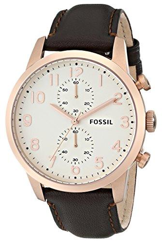 フォッシル 腕時計 メンズ FS4987 Fossil Men's FS4987 Townsman Chronograph Leather Watch - Brown with Rose-Gold Accentsフォッシル 腕時計 メンズ FS4987