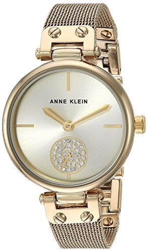 腕時計 アンクライン レディース AK/3000CHGB 【送料無料】Anne Klein Women's Swarovski Crystal Accented Gold-Tone Mesh Bracelet Watch腕時計 アンクライン レディース AK/3000CHGB