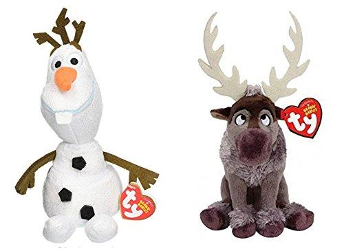 アナと雪の女王 アナ雪 ディズニープリンセス フローズン Ty Beanie Babies Frozen Bundle Original Ty Olaf & Disney Sparkle Ty Svenアナと雪の女王 アナ雪 ディズニープリンセス フローズン