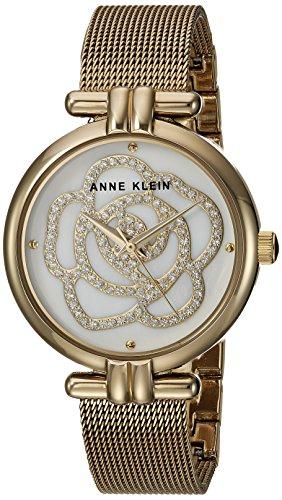 アンクライン 腕時計 レディース AK/3102MPGB 【送料無料】Anne Klein Women's AK/3102MPGB Swarovski Crystal Accented Gold-Tone Mesh Bracelet Watchアンクライン 腕時計 レディース AK/3102MPGB
