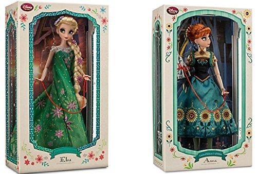 アナと雪の女王 アナ雪 ディズニープリンセス フローズン Disney - Limited Edition Anna Doll and Elsa Doll Set From Frozen Fever - 17'' Each - New in Box by Disneyアナと雪の女王 アナ雪 ディズニープリンセス フローズン