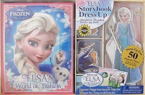 アナと雪の女王 アナ雪 ディズニープリンセス フローズン 【送料無料】Disney Frozen Elsa's Storybook & Dress Up Wooden Magnetic Doll Activity Set w Activity Story Book, Wooden Magnetic ELSA Dollアナと雪の女王 アナ雪 ディズニープリンセス フローズン