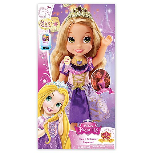 塔の上のラプンツェル タングルド ディズニープリンセス Disney Princess Sing and Shimmer Toddler Doll - Rapunzel塔の上のラプンツェル タングルド ディズニープリンセス