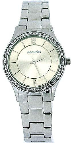 アキュリスト 腕時計 レディース イギリス ロンドン Accurist Ladies Champagne Dial Crystal bezel Stainless Steel Strap Watch LB649Iアキュリスト 腕時計 レディース イギリス ロンドン