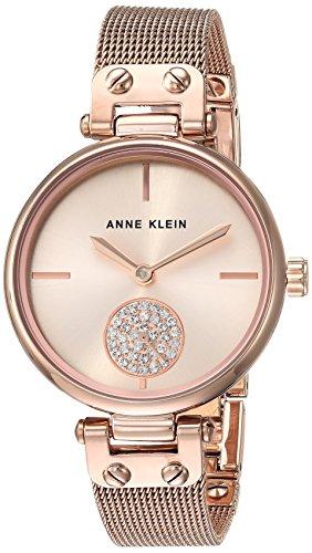 アンクライン 腕時計 レディース AK/3000RGRG 【送料無料】Anne Klein Women's Swarovski Crystal Accented Rose Gold-Tone Mesh Bracelet Watchアンクライン 腕時計 レディース AK/3000RGRG