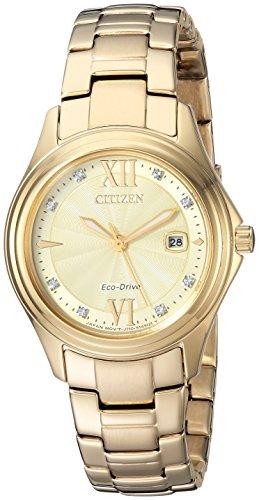 シチズン 逆輸入 海外モデル 海外限定 アメリカ直輸入 FE1132-84P Citizen Women's Quartz Stainless Steel Casual Watch, Color:Gold-Toned (Model: FE1132-84P)シチズン 逆輸入 海外モデル 海外限定 アメリカ直輸入 FE1132-84P
