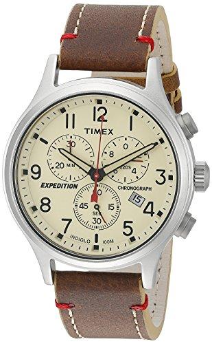 タイメックス 腕時計 メンズ TW4B12400 Timex Men's Expedition Scout Chronograph 42mm Leather |Black| Watch TW4B12400タイメックス 腕時計 メンズ TW4B12400