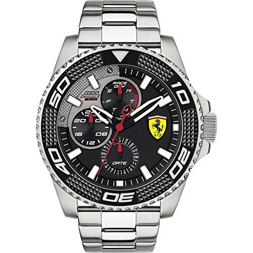 フェラーリ 腕時計 メンズ 0830470 Ferrari Men's KERS Xtreme Quartz Watch with Stainless-Steel Strap, Silver, 23 (Model: 0830470フェラーリ 腕時計 メンズ 0830470