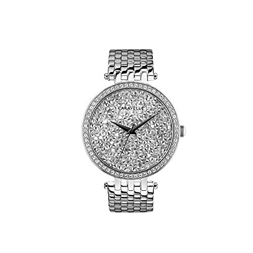 ブローバ 腕時計 レディース 【送料無料】Caravelle Designed by Bulova Women's Quartz Watch with Stainless-Steel Strap, Silver, 17.75 (Model: 43L206)ブローバ 腕時計 レディース