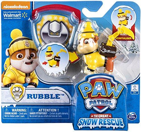 パウパトロール アメリカ直輸入 英語 バイリンガル育児 おもちゃ Paw Patrol Snow Rescue ? Rubble with Transforming Pup Pack and Badgeパウパトロール アメリカ直輸入 英語 バイリンガル育児 おもちゃ