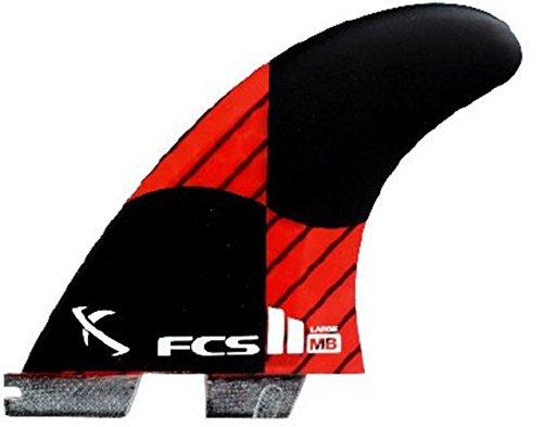 サーフィン フィン マリンスポーツ FCS II MB PC Carbon Surfboard Fin Set - Large (Rocket Red, Tri (3 Fin) Set)サーフィン フィン マリンスポーツ