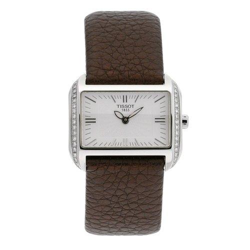 ティソ 腕時計 レディース T023.309.16.031.01 Tissot Women's T023.309.16.031.01 T-Wave Silver Dial Brown Leather Strap Watchティソ 腕時計 レディース T023.309.16.031.01