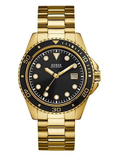 ゲス GUESS 腕時計 メンズ U1002G4 GUESS Men's Stainless Steel Casual Watch, Color: Gold-Tone/Black (Model: U1002G4)ゲス GUESS 腕時計 メンズ U1002G4