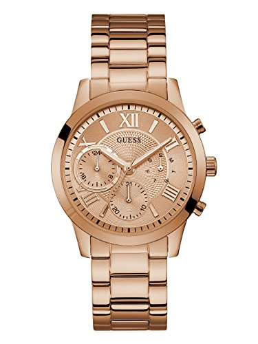 ゲス GUESS 腕時計 レディース U1070L3 【送料無料】GUESS Classic Rose Gold-Tone Bracelet Stainless Steel Watch with Day, Date + 24 Hour Military/Int'l Time. Color: Rose Gold-Tone (Model: U1070L3)ゲス GUESS 腕時計 レディース U1070L3