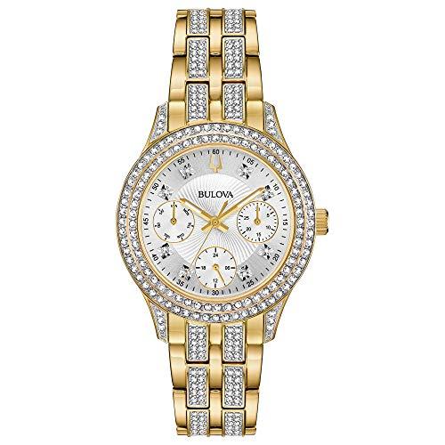 ブローバ 腕時計 レディース 98N112 【送料無料】Bulova Women's Swarovski Crystal Quartz Watch with Gold-Tone-Stainless-Steel Strap, 16 (Model: 98N112)ブローバ 腕時計 レディース 98N112