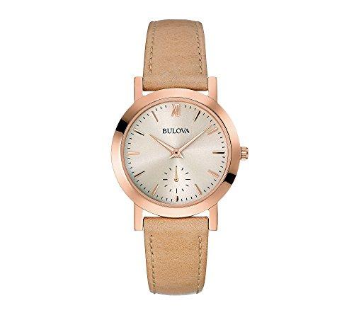 ブローバ 腕時計 レディース 97L146 【送料無料】Bulova Women's 32mm Classic Rose Goldtone Nude Leather Strap Watchブローバ 腕時計 レディース 97L146