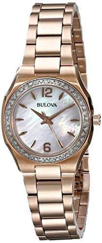 ブローバ 腕時計 レディース 98R205 Bulova Women's 98R205 Diamond Gallery Analog Display Japanese Quartz Rose Gold Watchブローバ 腕時計 レディース 98R205