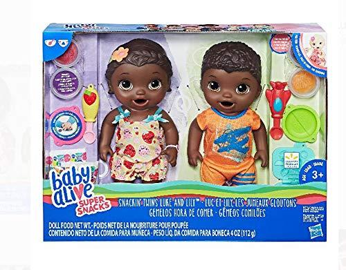 ベビーアライブ 赤ちゃん おままごと ベビー人形 NEW Baby Alive Super Snacks Snackin' TWINS LUKE AND LILY AFRICAN AMERICAN DOLLSベビーアライブ 赤ちゃん おままごと ベビー人形