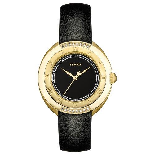 タイメックス 腕時計 レディース T2M592 Timex Women's T2M592 Diamond Accented Black Strap Stainless Steel Bracelet Watchタイメックス 腕時計 レディース T2M592