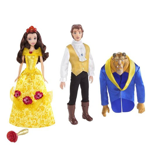 美女と野獣 ベル ビューティアンドザビースト ディズニープリンセス Disney Princess Magical Roses Belle Doll and Transforming Beast to Prince Doll Set美女と野獣 ベル ビューティアンドザビースト ディズニープリンセス
