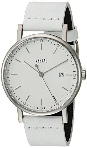 ベスタル ヴェスタル 腕時計 メンズ SP36L03.WH 【送料無料】Vestal Sophisticate 36 Stainless Steel Swiss-Quartz Watch with Leather Strap, White, 18 (Model: SP36L03.WH)ベスタル ヴェスタル 腕時計 メンズ SP36L03.WH