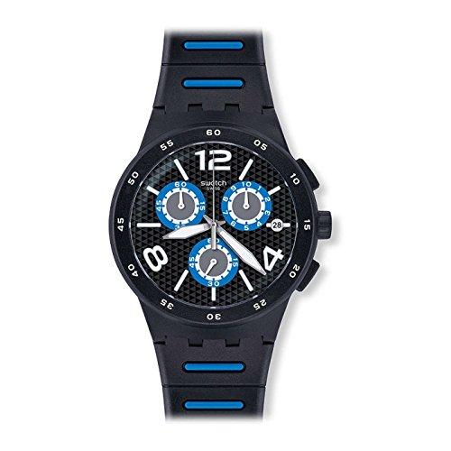 スウォッチ 腕時計 メンズ 【送料無料】[Swatch] Swatch watch New Chrono Plastic (New Chrono plastic) BLACK SPY (black spy) Men's SUSB410 [regular imported goods] SUSB410 Men's [regular imported goods]スウォッチ 腕時計 メンズ