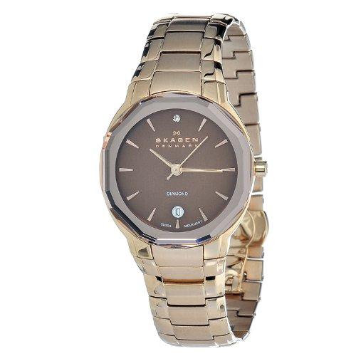 スカーゲン 腕時計 レディース 822SRXD 【送料無料】Skagen Women's 822SRXD Quartz Stainless Steel Brown Dial Watchスカーゲン 腕時計 レディース 822SRXD