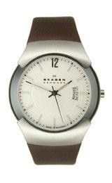スカーゲン 腕時計 メンズ 981XLSLD 【送料無料】Skagen Silver Tone & Brown Leather Men's watch #981XLSLDスカーゲン 腕時計 メンズ 981XLSLD