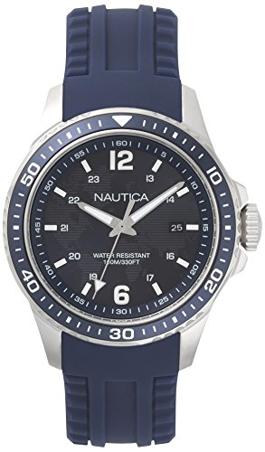 ノーティカ 腕時計 メンズ NAPFRB002 【送料無料】Nautica Men's FREEBOARD Stainless Steel Quartz Sport Watch with Silicone Strap, Blue, 22 (Model: NAPFRB002)ノーティカ 腕時計 メンズ NAPFRB002
