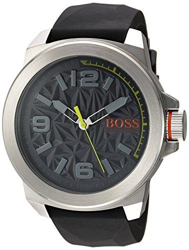 ヒューゴボス 高級腕時計 メンズ 1513354 BOSS Orange Men's Stainless Steel Quartz Watch with Silicone Strap, Grey, 22.6 (Model: 1513354ヒューゴボス 高級腕時計 メンズ 1513354
