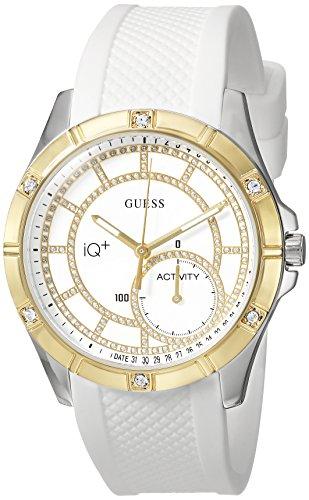 ゲス GUESS 腕時計 レディース C2002L1 GUESS Women's Stainless Steel Connect Fitness Tracker Silicone Watch, Color: White (Model: C2002L1)ゲス GUESS 腕時計 レディース C2002L1